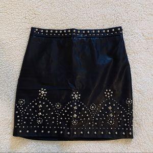 Leather Black Mini Skirt